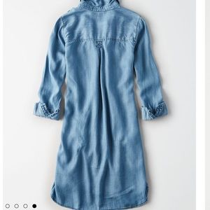 American Eagle Outfitters Dresses - ISO American Eagle Solid Tencel Denim Shirt Dress